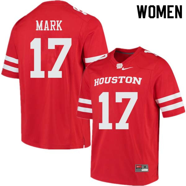 Women #17 Terry Mark Houston Cougars College Football Jerseys Sale-Red