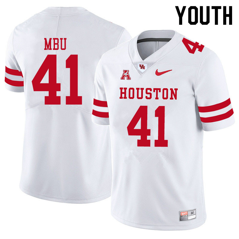 Youth #41 Bradley Mbu Houston Cougars College Football Jerseys Sale-White