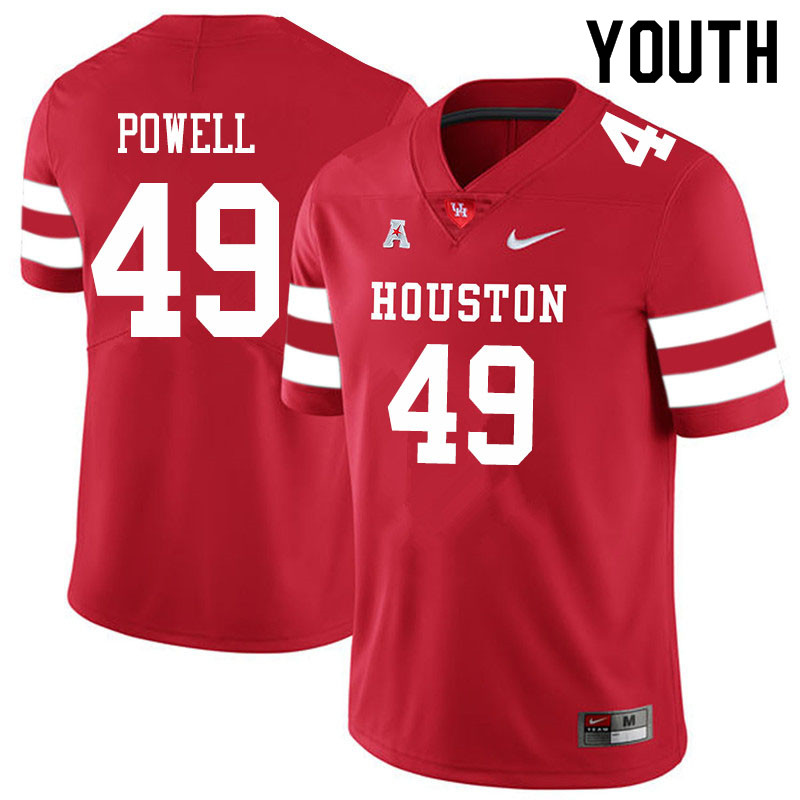 Youth #49 Keandre Powell Houston Cougars College Football Jerseys Sale-Red