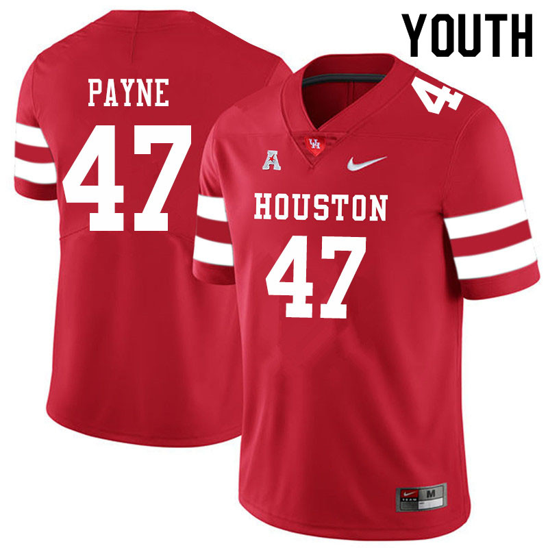 Youth #47 Taures Payne Houston Cougars College Football Jerseys Sale-Red