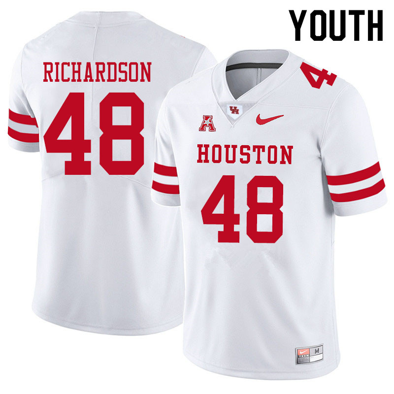 Youth #48 Torrey Richardson Houston Cougars College Football Jerseys Sale-White