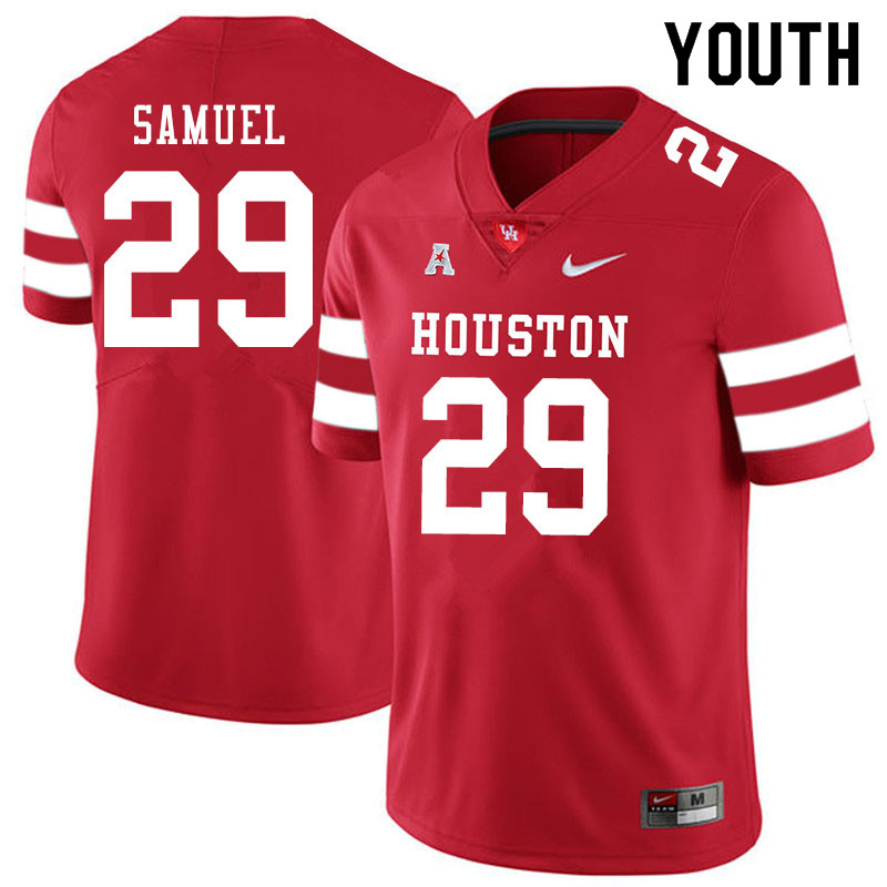 Youth #29 Colin Samuel Houston Cougars College Football Jerseys Sale-Red