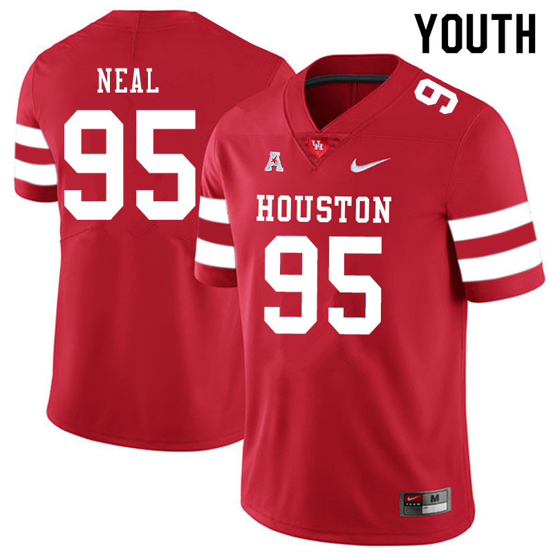 Youth #95 Jamykal Neal Houston Cougars College Football Jerseys Sale-Red