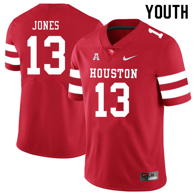 Youth #13 Marcus Jones Houston Cougars College Football Jerseys Sale-Red