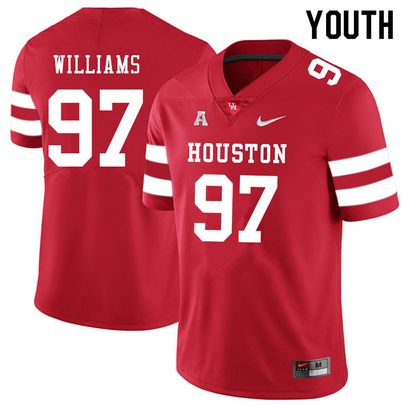 Youth #97 Tre Williams Houston Cougars College Football Jerseys Sale-Red
