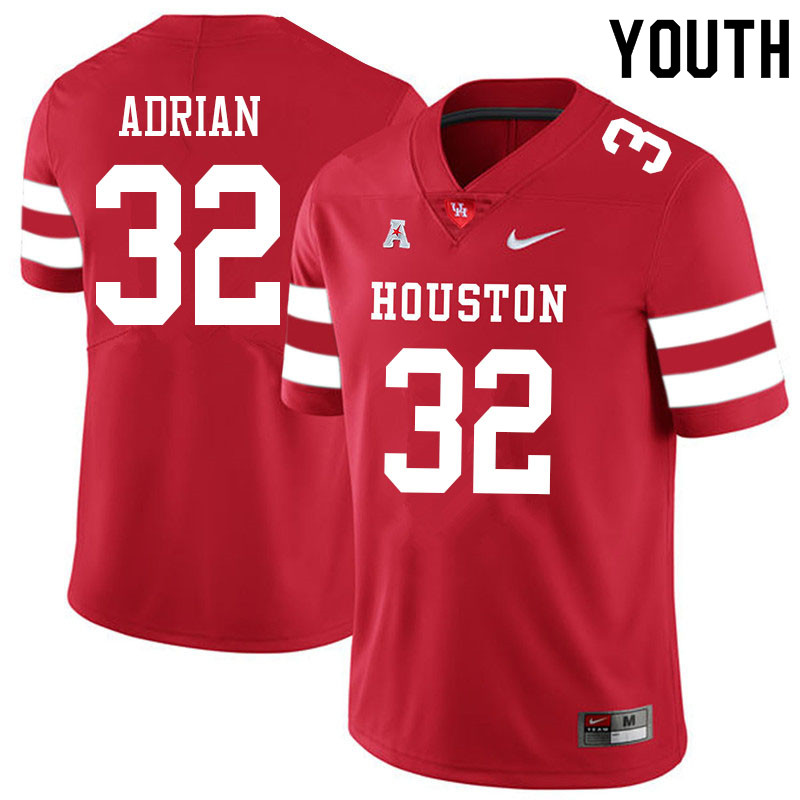 Youth #32 Canen Adrian Houston Cougars College Football Jerseys Sale-Red