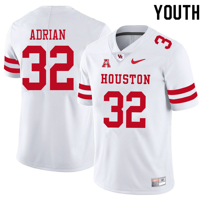 Youth #32 Canen Adrian Houston Cougars College Football Jerseys Sale-White