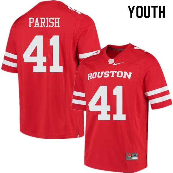 Youth #41 Derek Parish Houston Cougars College Football Jerseys Sale-Red