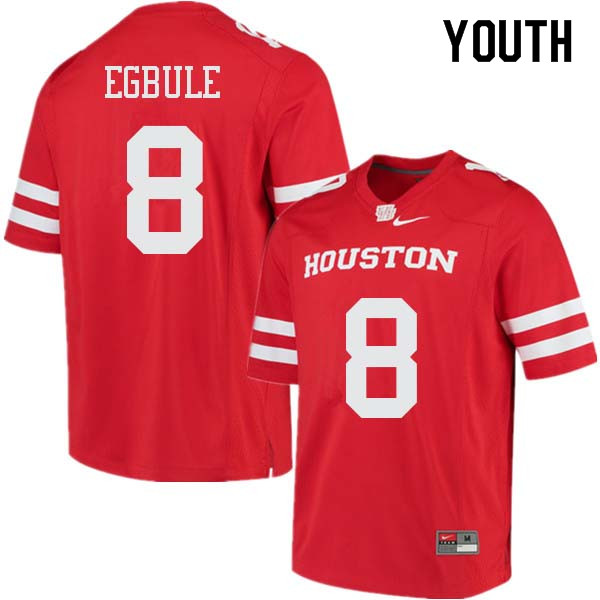 Youth #8 Emeke Egbule Houston Cougars College Football Jerseys Sale-Red