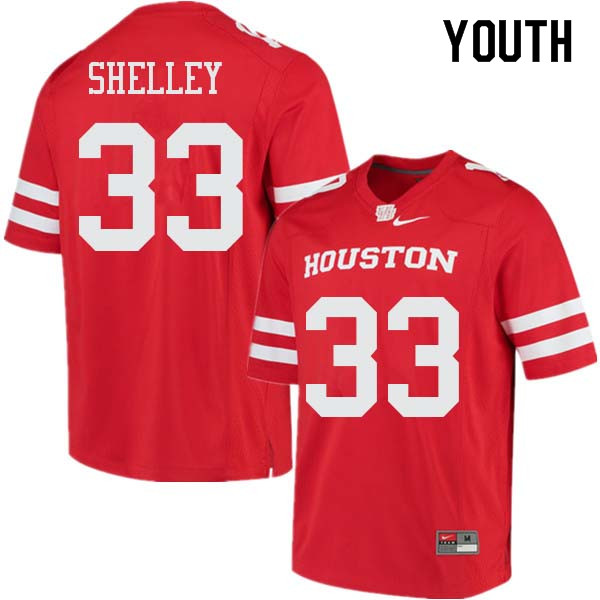 Youth #33 Ja'Von Shelley Houston Cougars College Football Jerseys Sale-Red