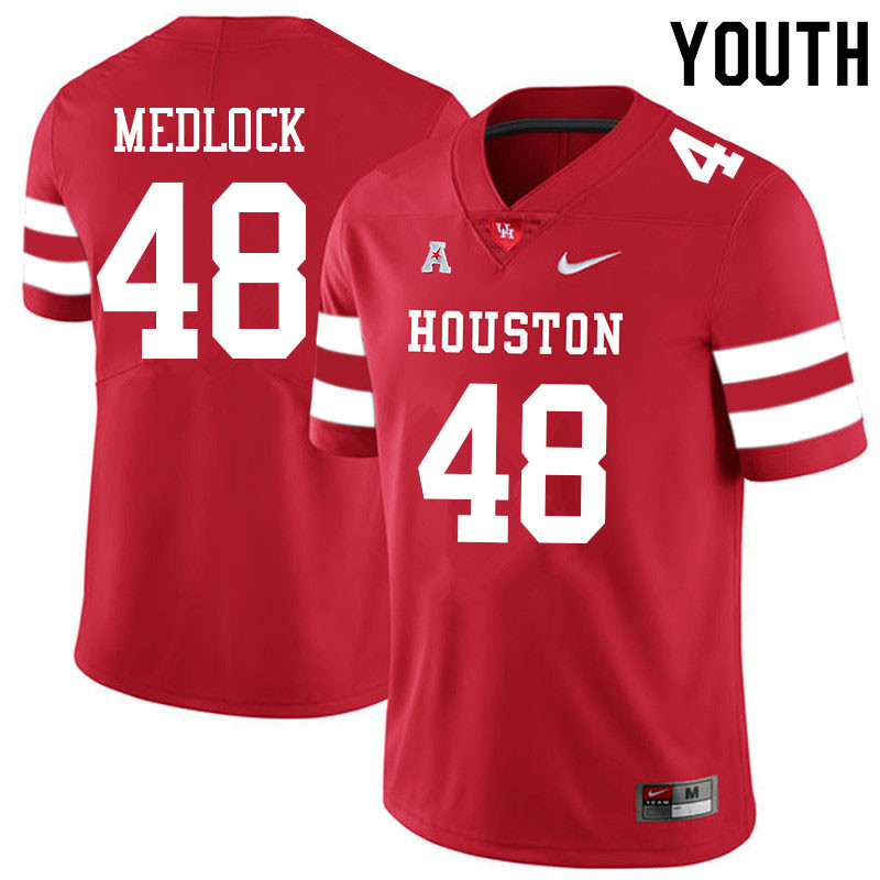 Youth #48 Kayce Medlock Houston Cougars College Football Jerseys Sale-Red