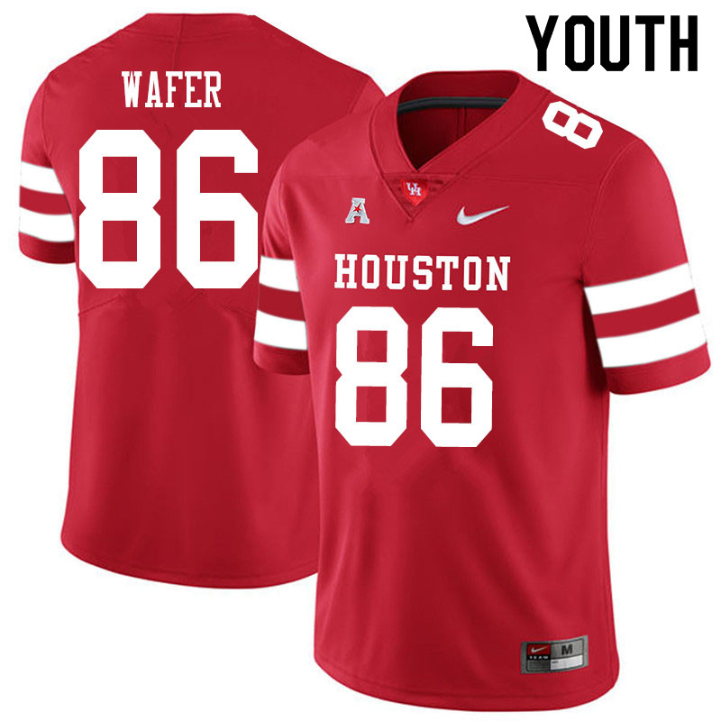 Youth #86 Khiyon Wafer Houston Cougars College Football Jerseys Sale-Red
