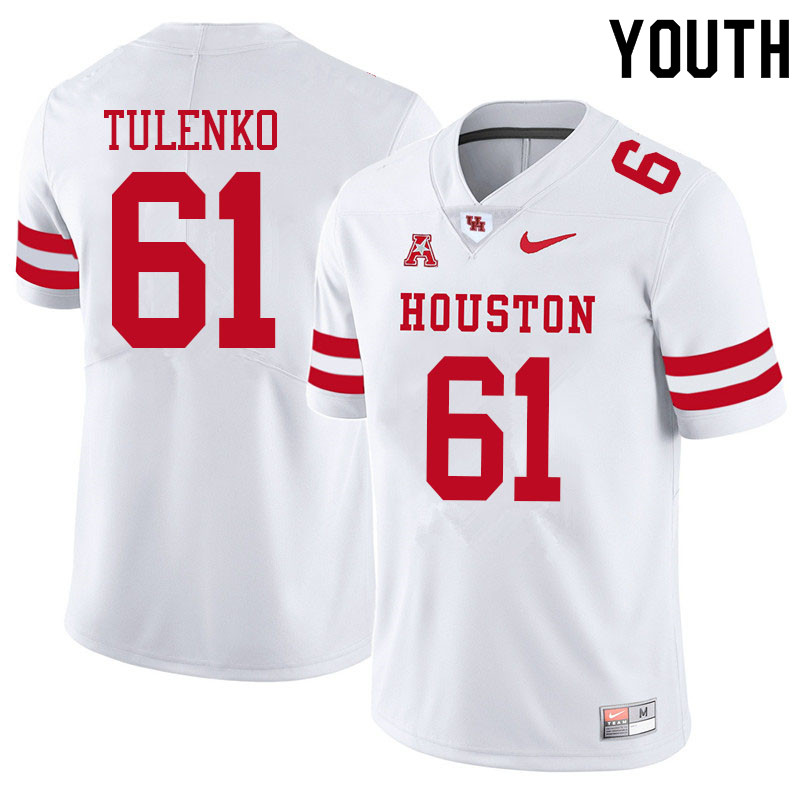 Youth #61 Michael Tulenko Houston Cougars College Football Jerseys Sale-White