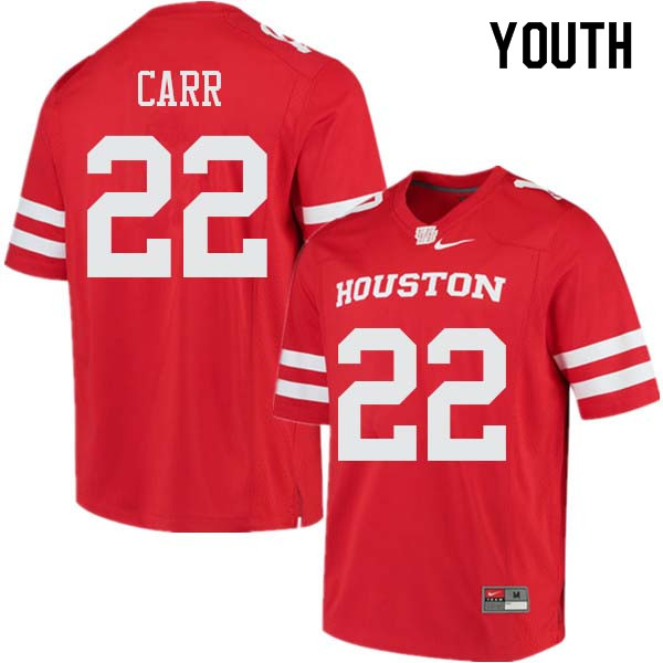 Youth #22 Patrick Carr Houston Cougars College Football Jerseys Sale-Red