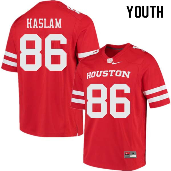 Youth #86 Payton Haslam Houston Cougars College Football Jerseys Sale-Red
