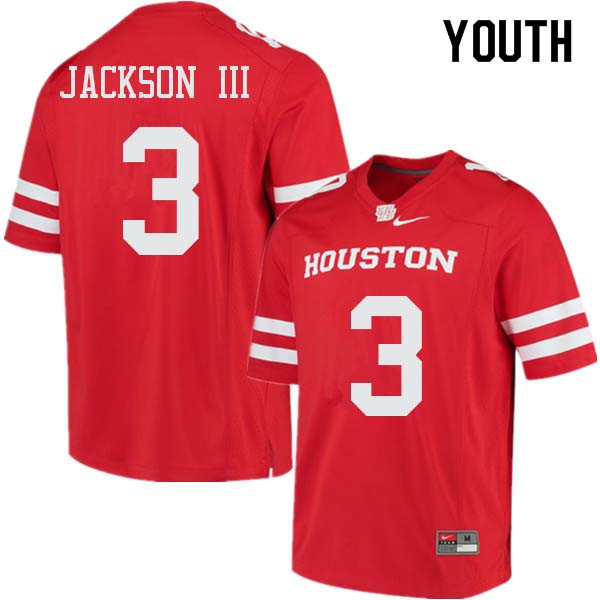 Youth #3 William Jackson III Houston Cougars College Football Jerseys Sale-Red